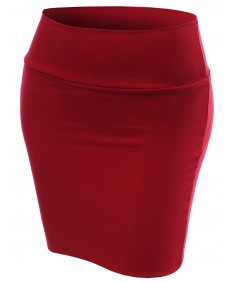 Women's Basic Plain Stretch Mini Skirts
