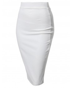 Women's Good Stretchy Quality Midi Pencil Skirt2