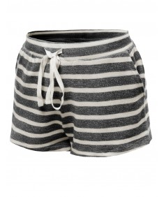 Women's Stripe French Terry Drawstring Shorts