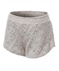 Women's Basic Slim Fit Lace Shorts