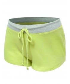 Women's Neon Color Contrast Workout Yoga Shorts
