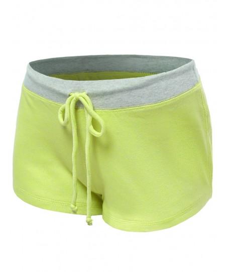Women's Neon Color Contrast Workout Yoga Shorts