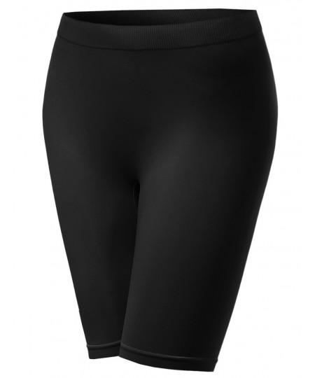 Women's Basic Seamless Short Knee Length Leggings