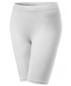 Women's Basic Seamless Short Knee Length Leggings