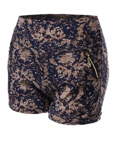 Women's Paisley Floral Printed Pattern Shorts
