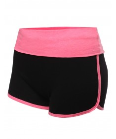 Women's Folded Waist Band Casual Shorts