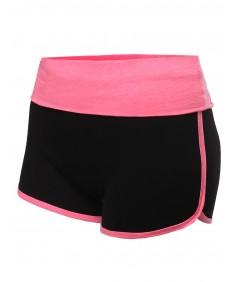 Women's Folded Waist Band Casual Shorts