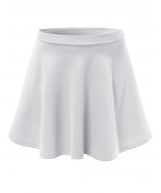 Women's Solid Basic Stretchy Flared Mini Skater Skirts