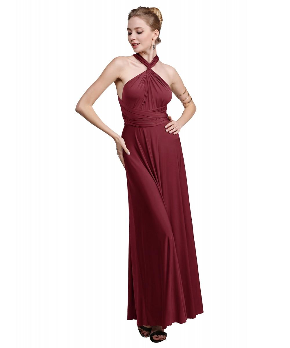 e72419a6d51 Women Occasion Wedding Bridesmaid Wrap Convertible Long Maxi Dress ...