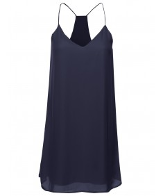 Women's Classic V-Neck Spaghetti Strap Dress