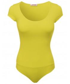 Women's Cotton Solid Short Sleeve Bodysuit