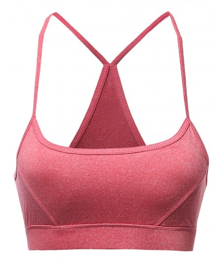 Women's Basic Solid Strap Sporty Sport Bras