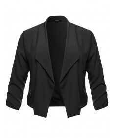 Women's Plus Size Blacker Jacket with Zipper Pockets