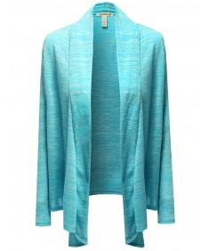 Women's Melange Open Front Sweater Cardigans