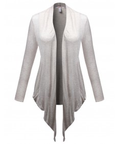 Women's Shawl Collar Open Plus Size With Pocket Cardigans