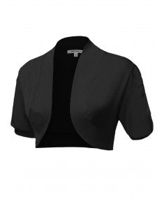 Women's Basic Bolero W/ Shirred Sleeves