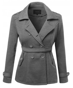 Women's Beautiful Fit Cotton Blend Classic Double Breasted Trench Coat