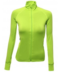 Women's Basic Solid Track Workout Jackets