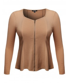 Women's Good Strechy Princessline Scoop Neck Cardigan Jacket
