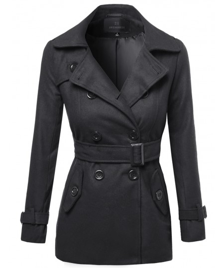 Women's Beautiful Fit Classic Double Breasted Trench Coat