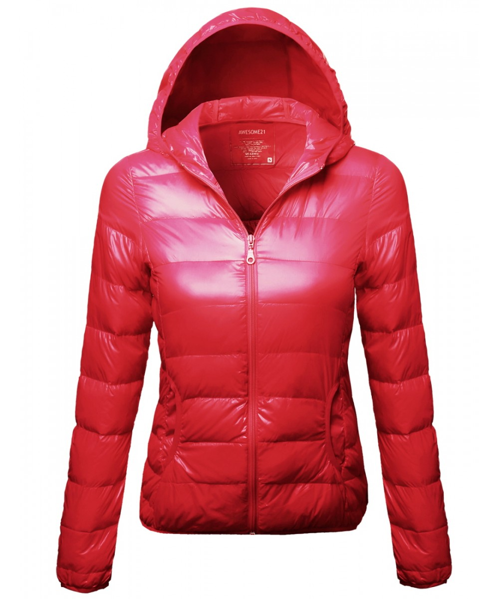 Women's Outdoor Warm Lightweight Hood Goose Feather Puffer ...