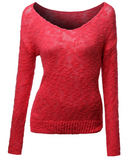Women's Adorable Oversized Knitted Sweater Loose Outwear Pullover