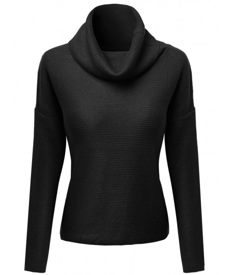 Women's Classic Loose Fit Turtle Neck Sweater