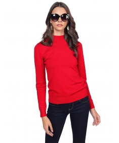 Women's Silky Mock Turtle Neck Long Sleeve Knit Top Sweater