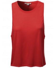 Women's Casual Cute Tank Top Sleeveless T-Shirts