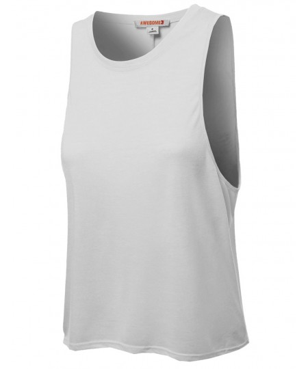 Women's Casual Cute Tank Top Sleeveless T-Shirts