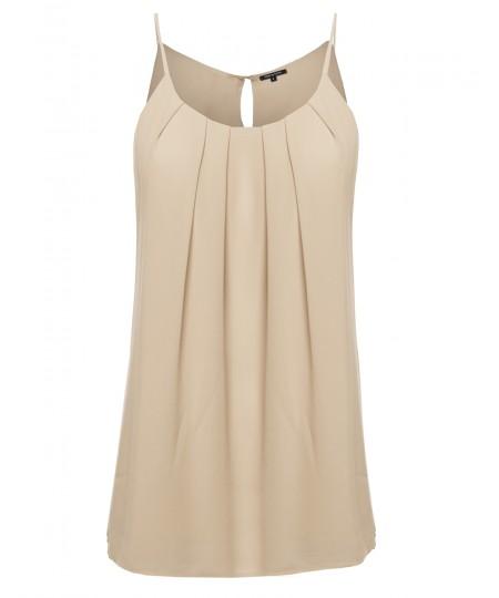 Women's High Neck Pleated Top