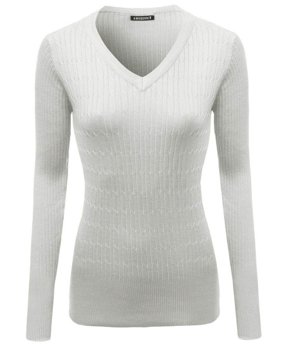 Basic Solid Pullover Sweaters - FashionOutfit.com