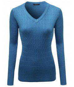 Women's Basic Solid Pullover Sweaters