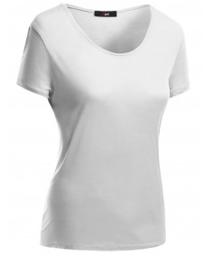 Women's Basic Short Sleeve Scoop Neck Dip Hem T-Shirts