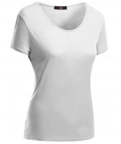Women's Basic Short Sleeve Scoop Neck Dip Hem T-Shirts