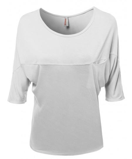 Women's Short Sleeve Scoop Neck Bamboo Tops