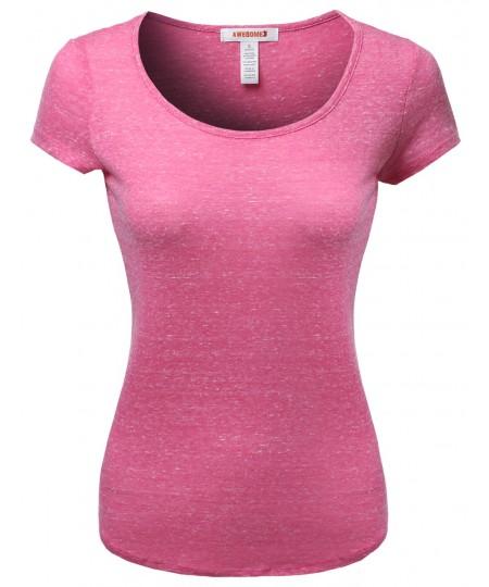 Women's Tri Blend Melange Short Sleeve Tees