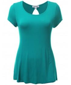 Women's Strech Soft Rayon Spandex Sleeve Skinny Look Plus Size Tops