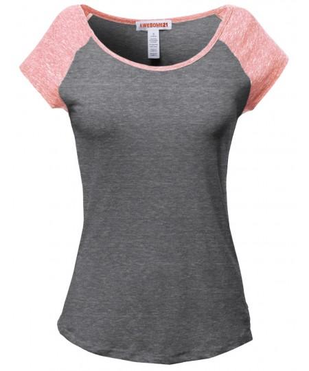 Women's Basic Raglan Style Sleeveless Tank Tops