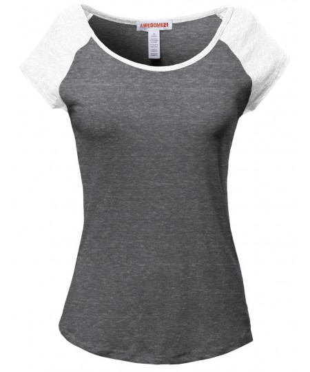 Women's Basic Raglan Style Sleeveless Tank Tops