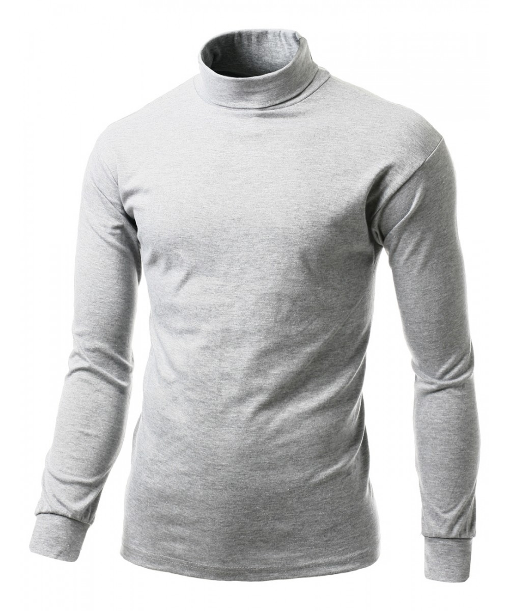 Interlock soft cotton knit mock turtleneck with long for Turtleneck under t shirt