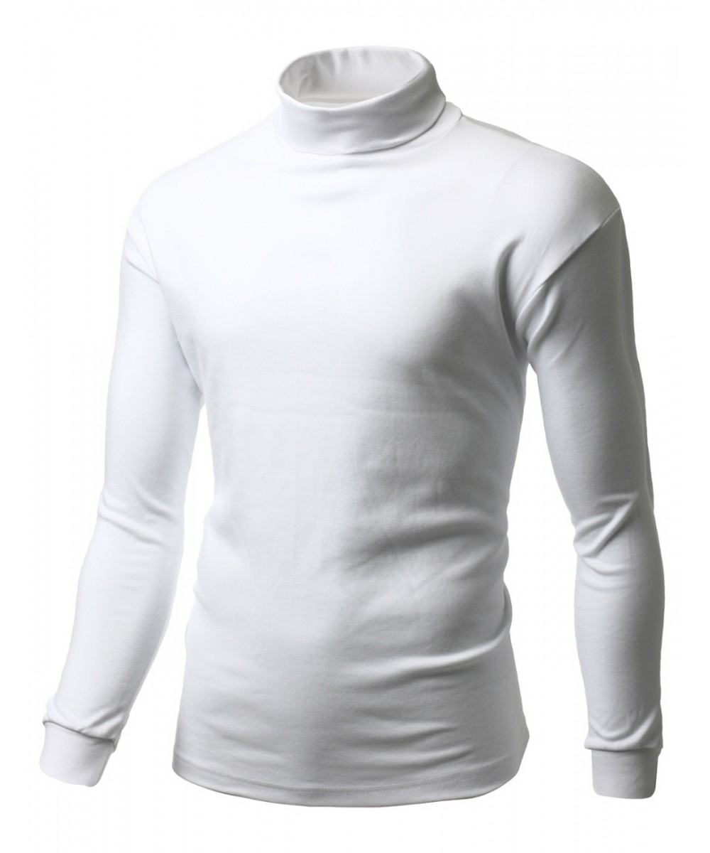 Interlock Soft Cotton Knit Mock Turtleneck With Long