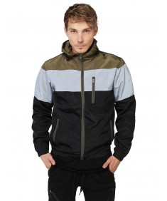 Men's Color Block Windbreaker
