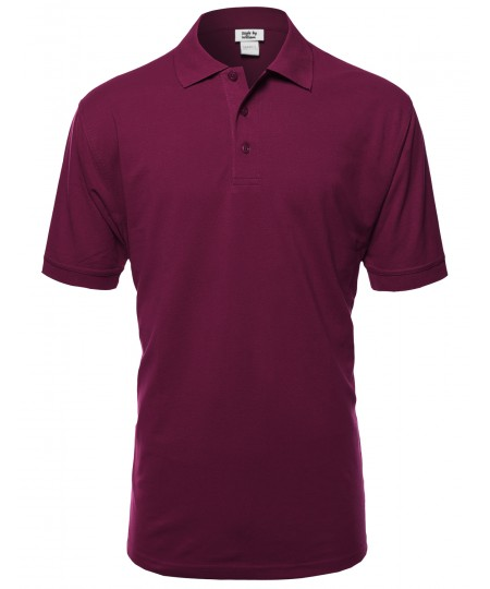 Men's Basic Short Sleeve Polos In Various Colors