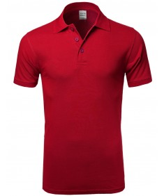 Men's Basic Solid 3 Buttons Polo Shirts in Various Colors