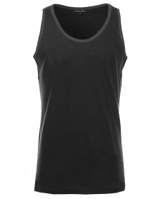 Men's Basic Lightweight Round Neck Tank Top
