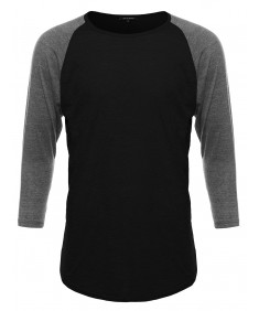 Men's Basic Lightweight Baseball Raglan Shirt