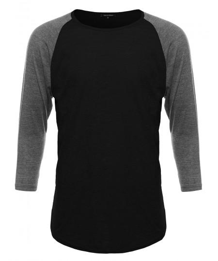 Men's Basic Lightweight Baseball Raglan Shirt
