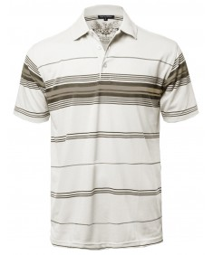 Men's Basic Everyday Stripe Polo T-Shirt FMTTS02