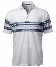 Men's Basic Everyday Stripe Polo T-Shirt FMTTS03